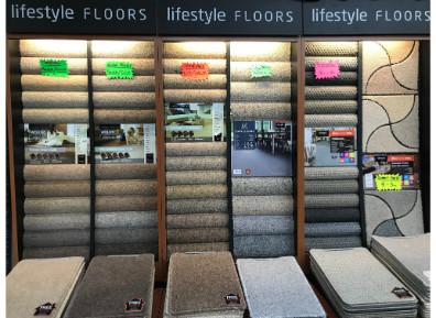 Carpet Display in Yorkshire Carpets Showroom Morley