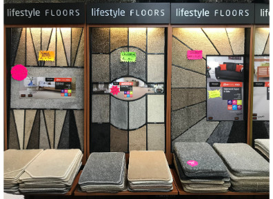 Carpet Variety on display in Yorkshire Carpets Morley Showroom