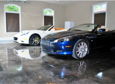 Elite Crete Flooring in a luxury car showroom