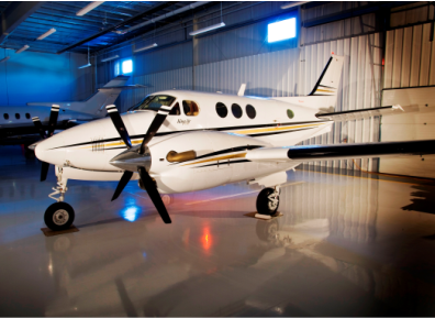 Elite Crete flooring inside an aviation hangar